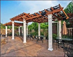 Simple Freestanding Deck