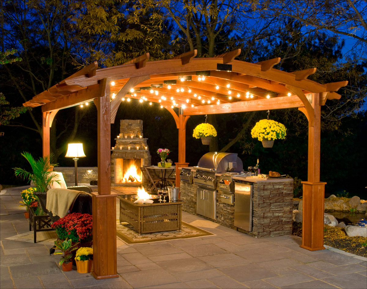Customer 39 s photo 12x16 treated pine arched pergola for 12x16 kitchen plans