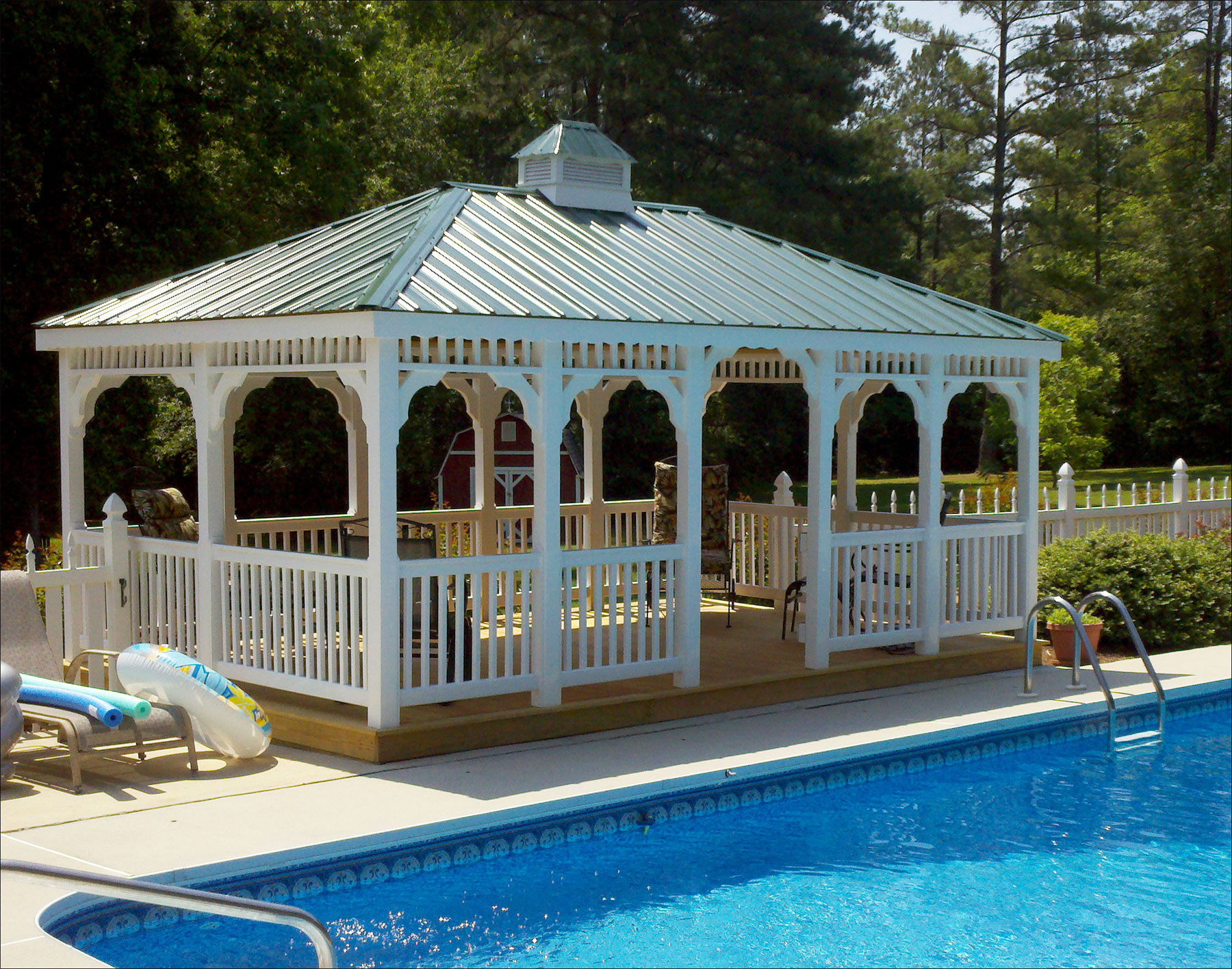 Customer S Photo 12 X 16 White Vinyl Gazebo