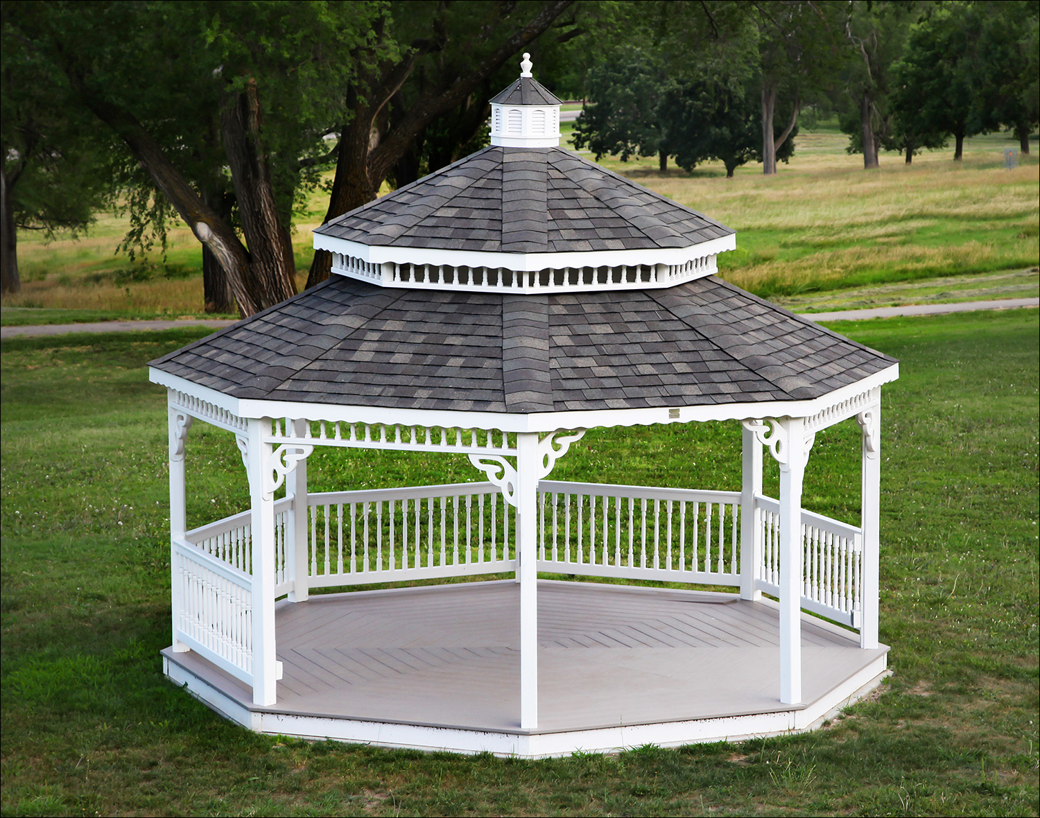 Customer S Photo 16 White Vinyl Double Roof Octagon Gazebo