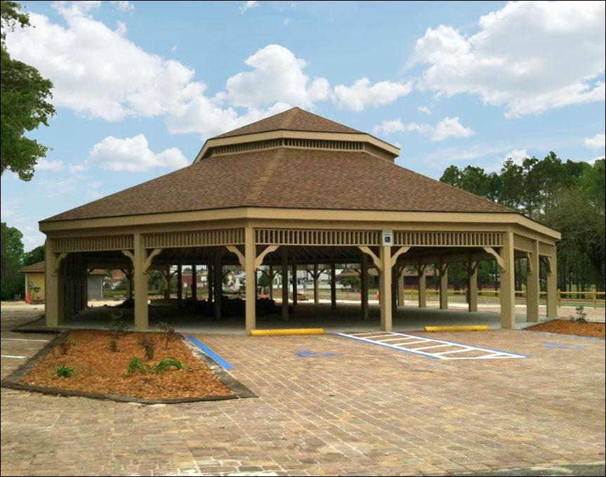 Customer 39 s photo 60 39 x 100 39 treated pine double roof gazebo for Gazebo roof pitch