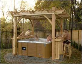 Woodwork hot tub pergola plans pdf plans for Hot tub gazebo plans