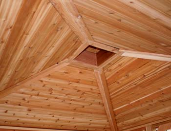 gazebos with cedar tongue and groove ceiling