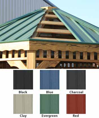 Gazebos With Metal Roof Gazebos By Available Options