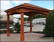Red Cedar Open Rectangle Gazebos