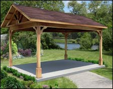 Red Cedar Gable Roof