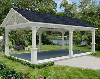 Red Cedar Gable Roof Open Rectangle Gazebos With 6 12 Roof