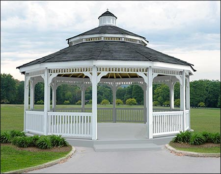 Vinyl Double Roof Dodecagon Gazebos Gazebos By Material