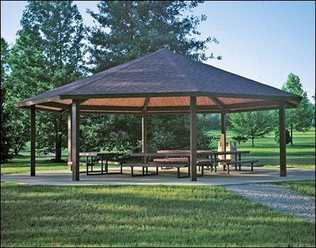 Steel Frame Single Roof Santa Fe Octagon Pavilions