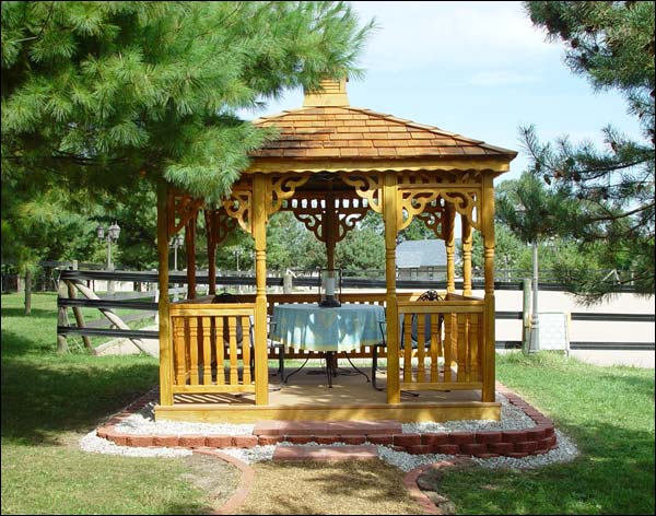 Treated Pine Atap Tunggal Rectangle Gazebos