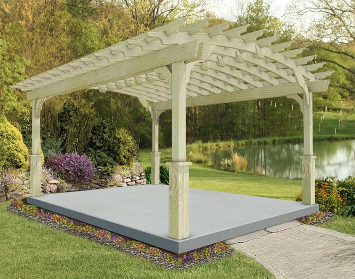Treated Pine Free Standing Arched Pergolas - Treated Pine Arched Garden Free Standing Pergolas Pergolas By
