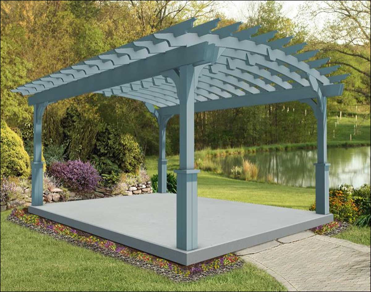 Treated Pine Arched Garden Free Standing Pergolas