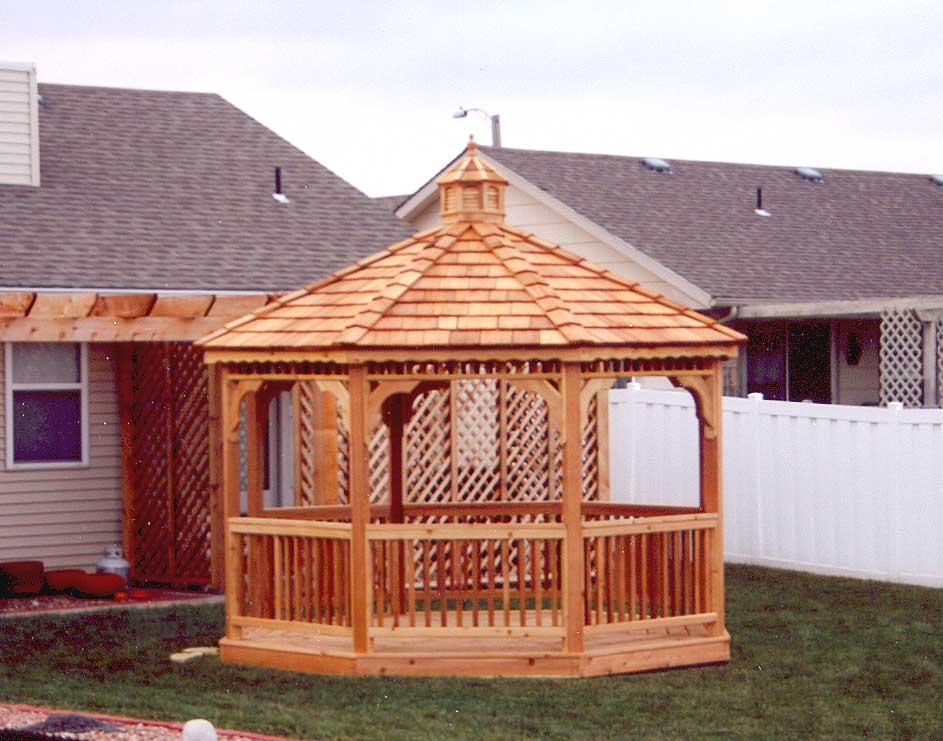 Red Cedar Single Roof Octagon Gazebos Gazebos By Style