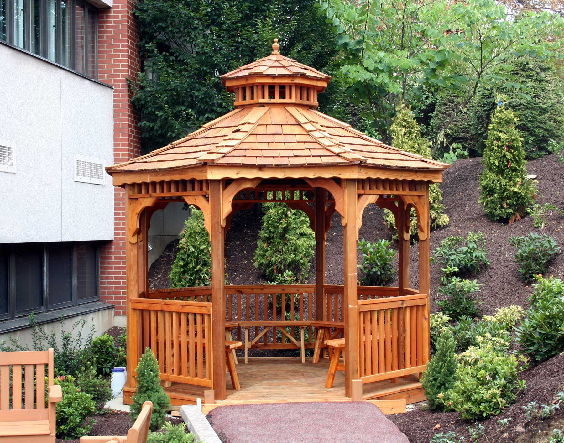 Red Cedar Single Roof Octagon Gazebos Gazebos By