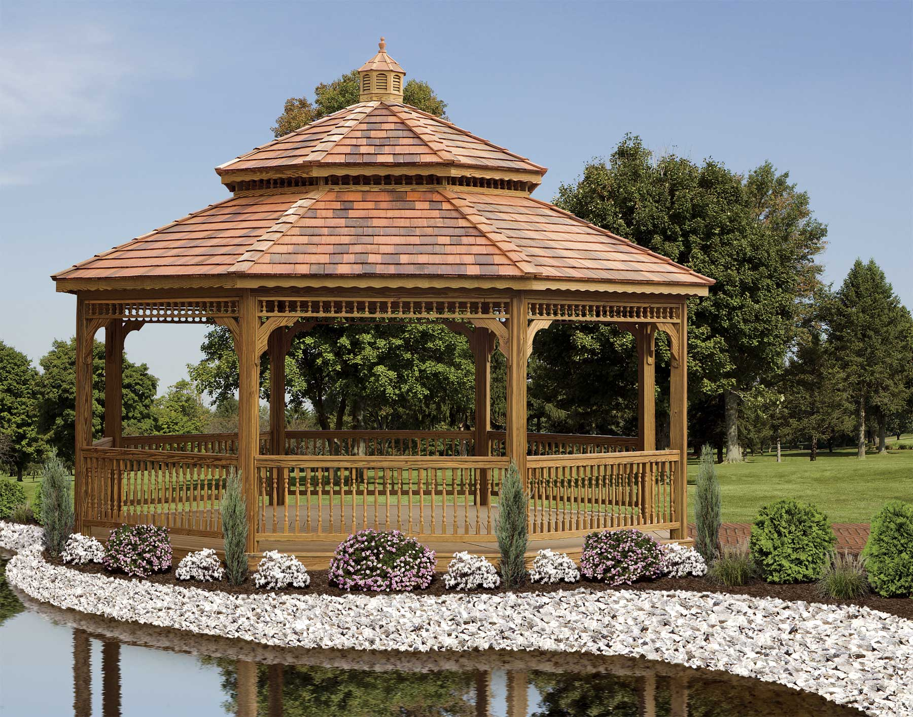 1000 images about gazebos on pinterest gazebo screened for House plans with gazebo porch