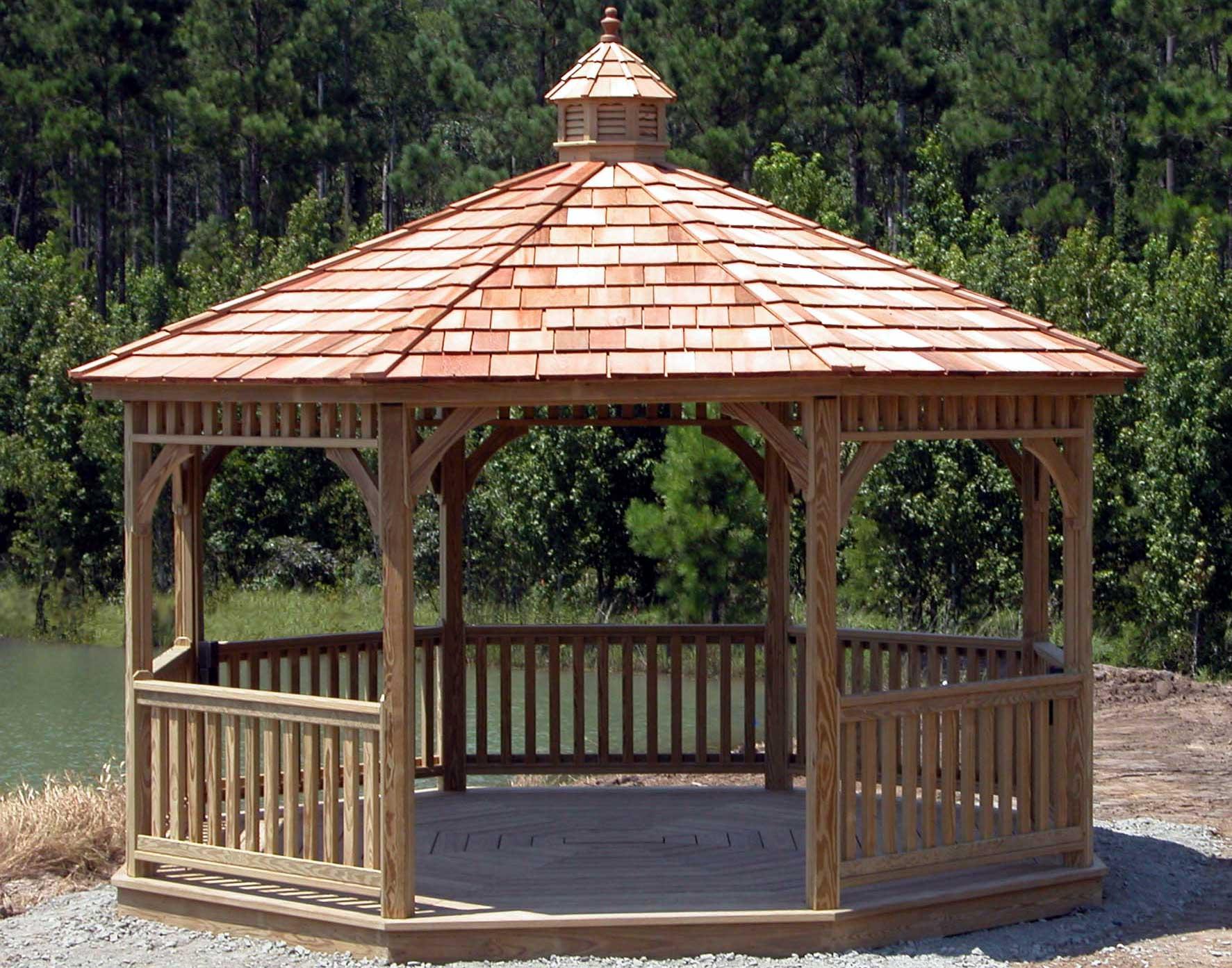 Treated Pine Single Roof Octagon Gazebos Gazebos By
