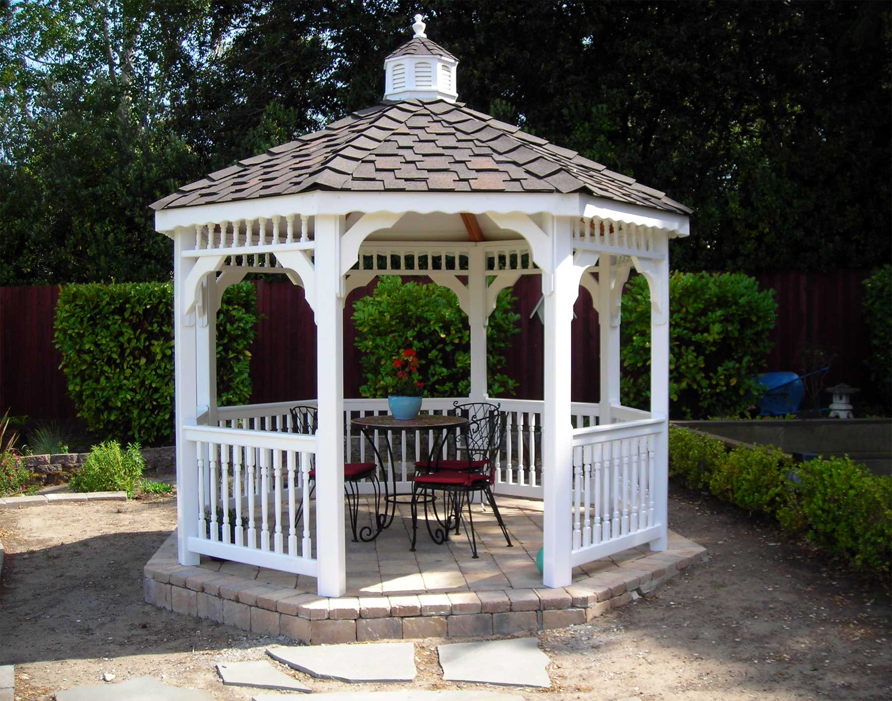 Vinyl Single Roof Octagon Gazebos Gazebos By Style
