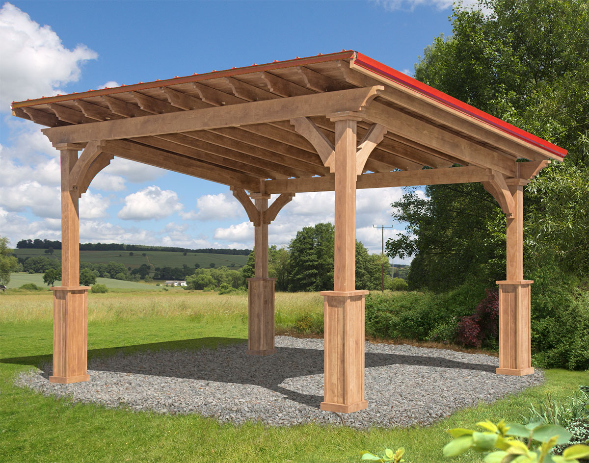 Red Cedar Santa Barbara Free Standing Pergolas Pergolas By Style Gazebocreations Com