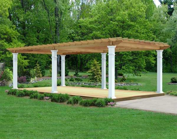 Red Cedar Oasis Free Standing Pergolas Pergolas by Style