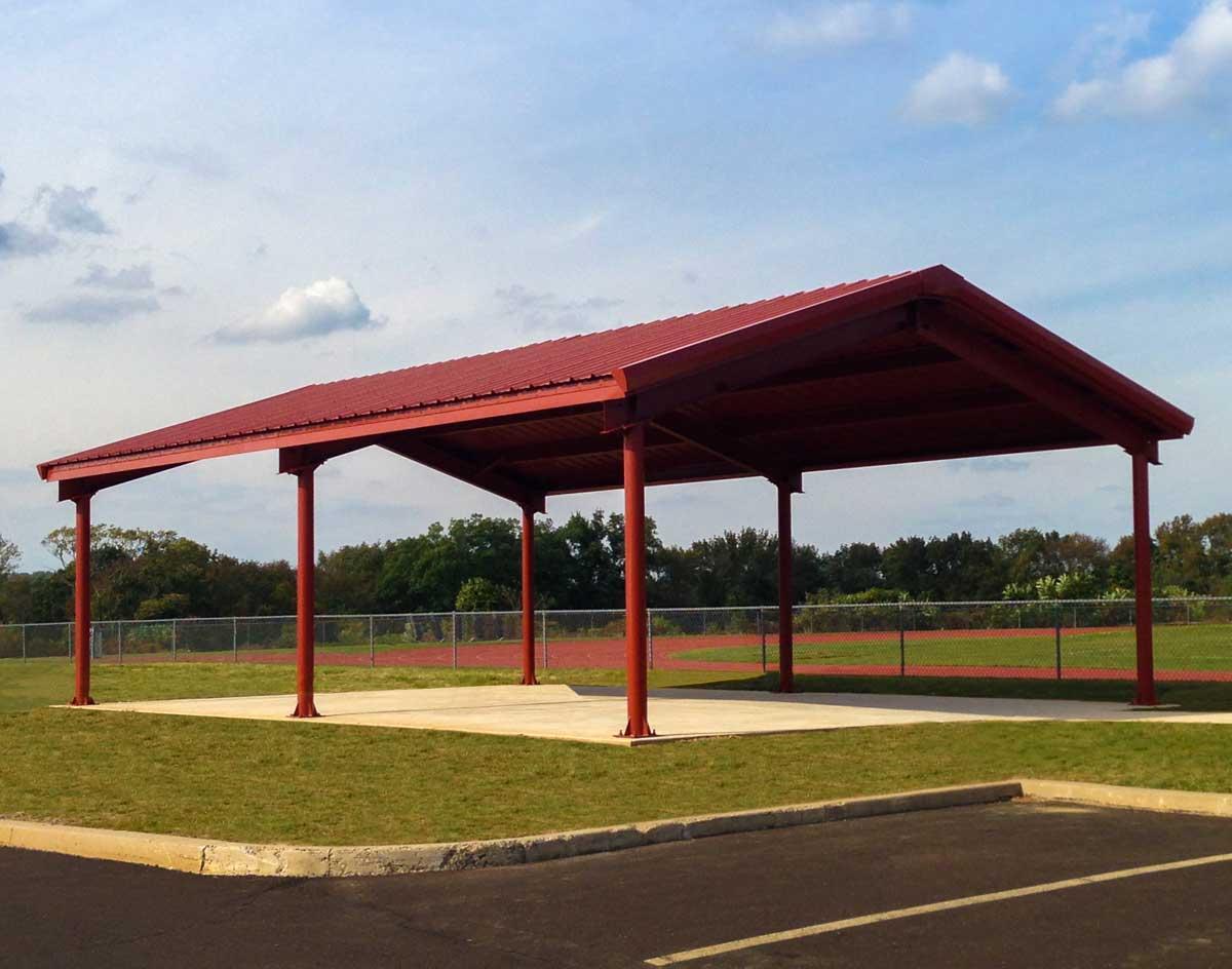 Steel I Beam Single Roof Savannah Rectangle Pavilions Pavilions by Shape