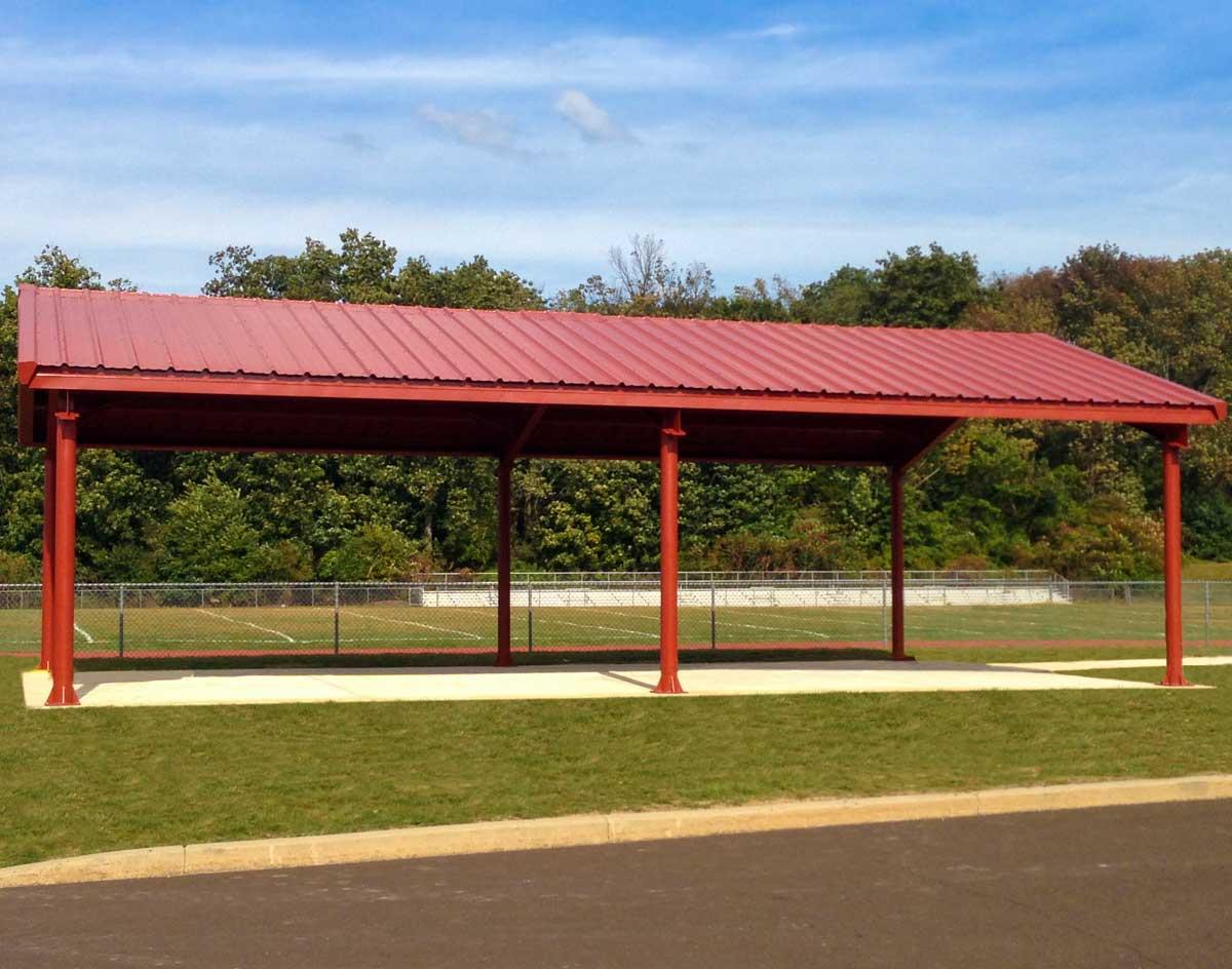 Steel I Beam Single Roof Savannah Rectangle Pavilions