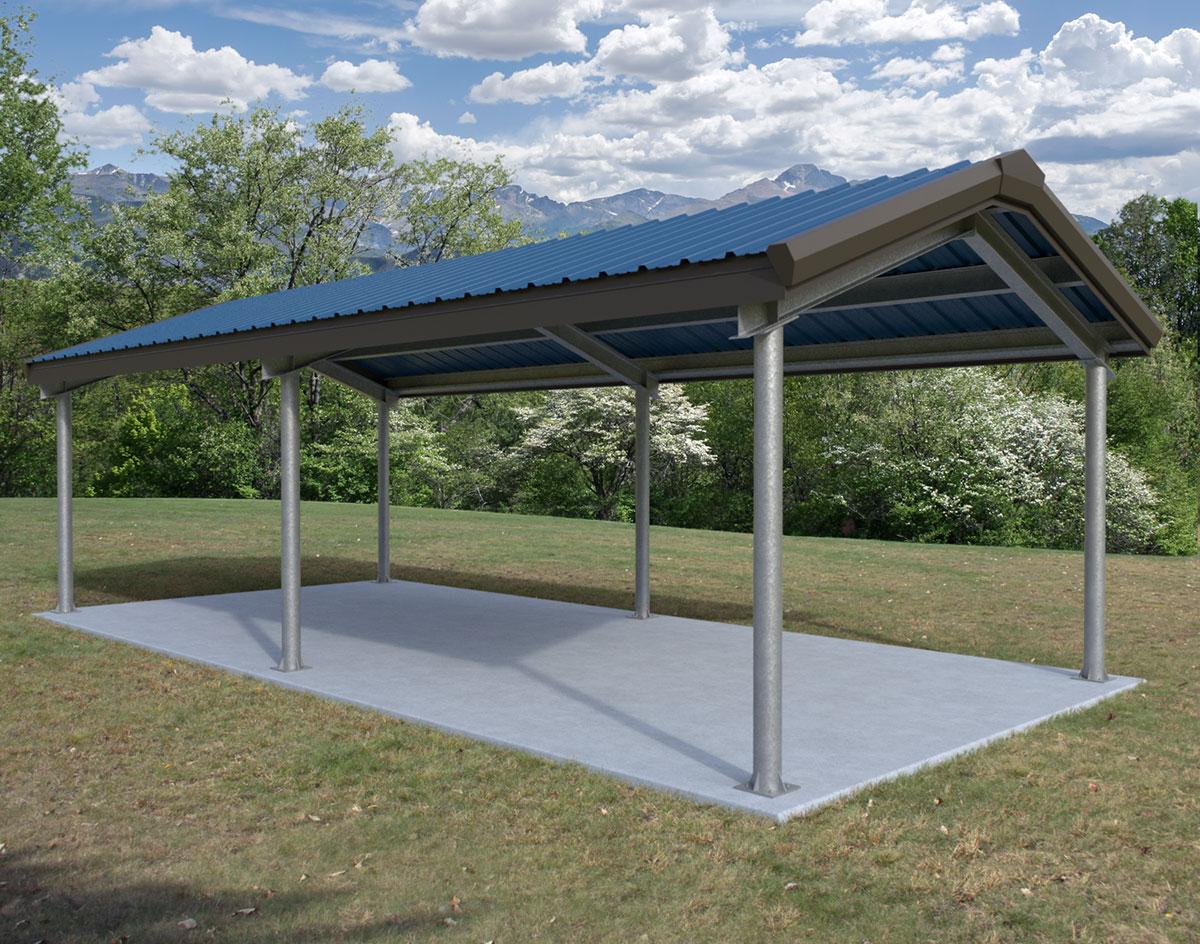 Steel I-Beam Single Roof Savannah (Rectangle) Pavilions