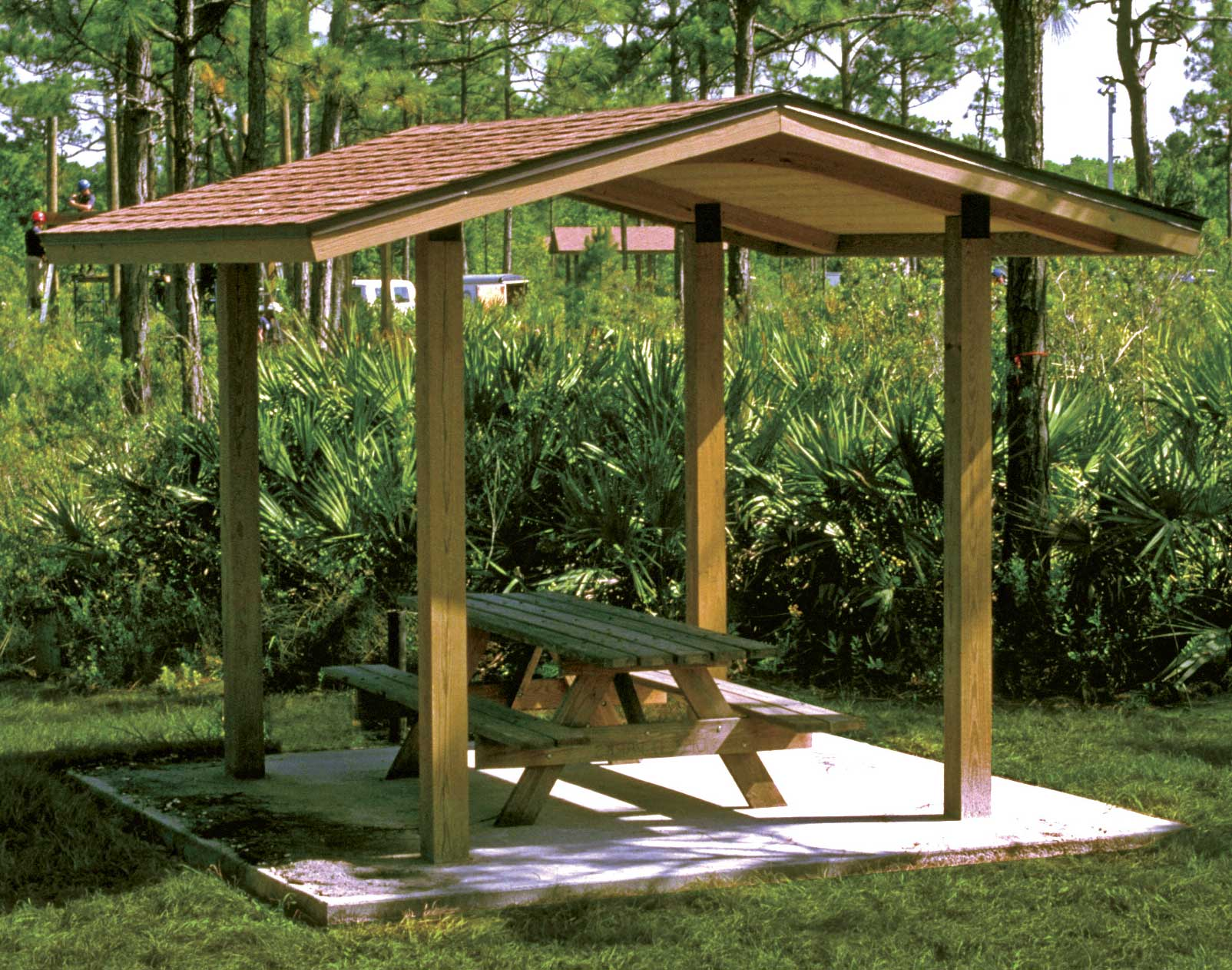 Wood single roof savannah rectangle pavilions for Garden gazebo designs plans