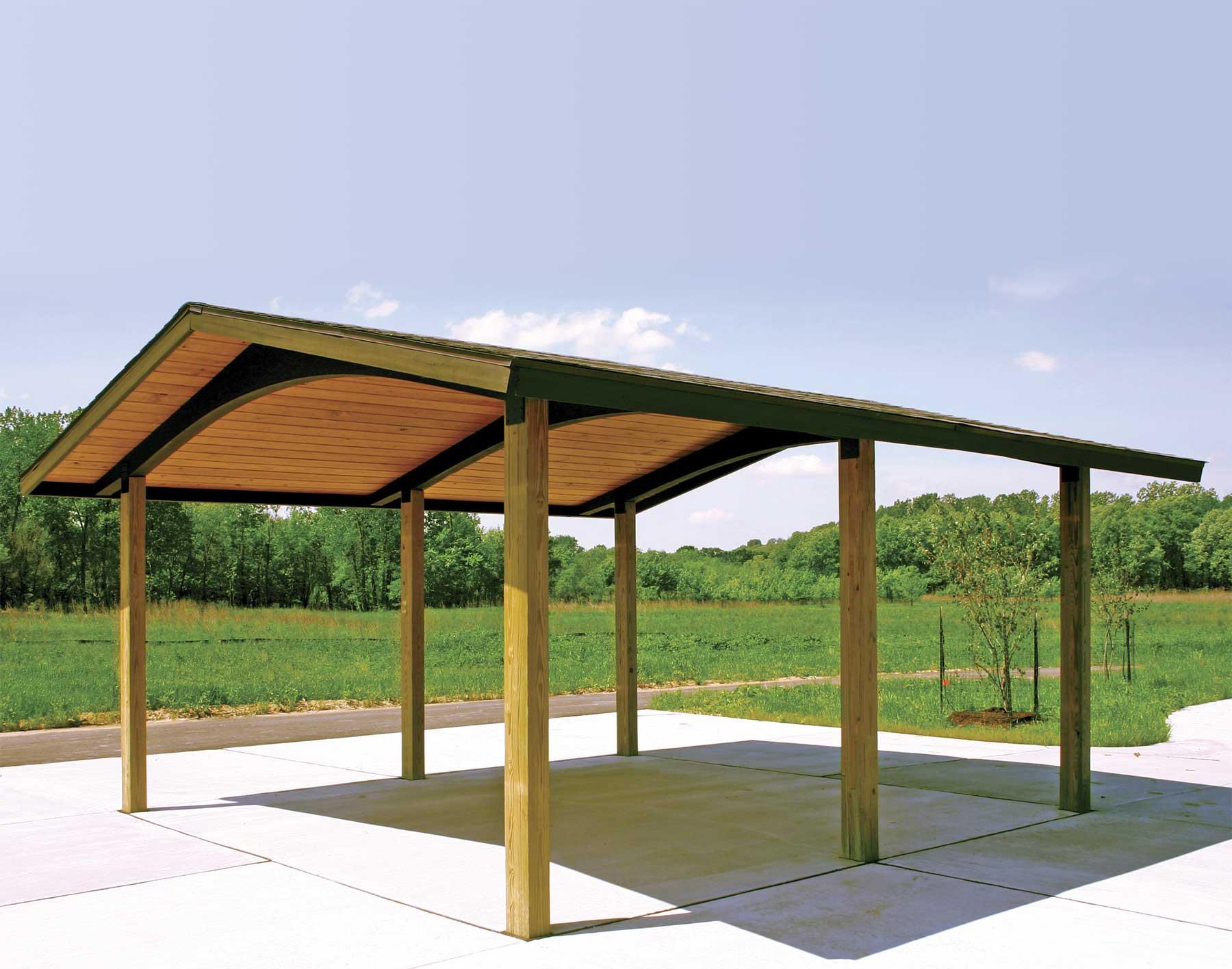 Wood Single Roof Savannah Rectangle Pavilions