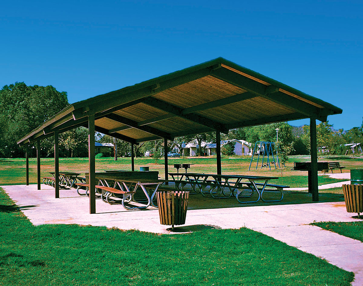 Steel Frame Single Roof Savannah Rectangle Pavilions