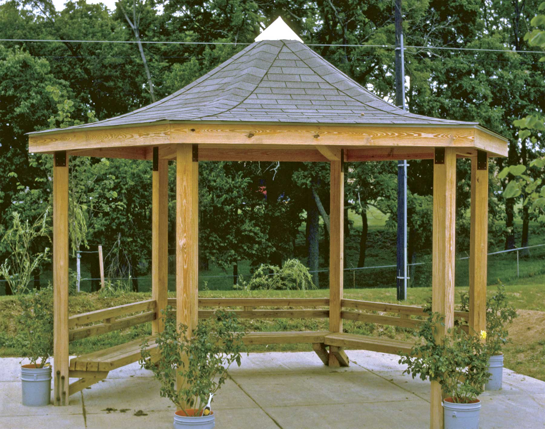 Wood Single Roof Victory Hexagon Pavilions