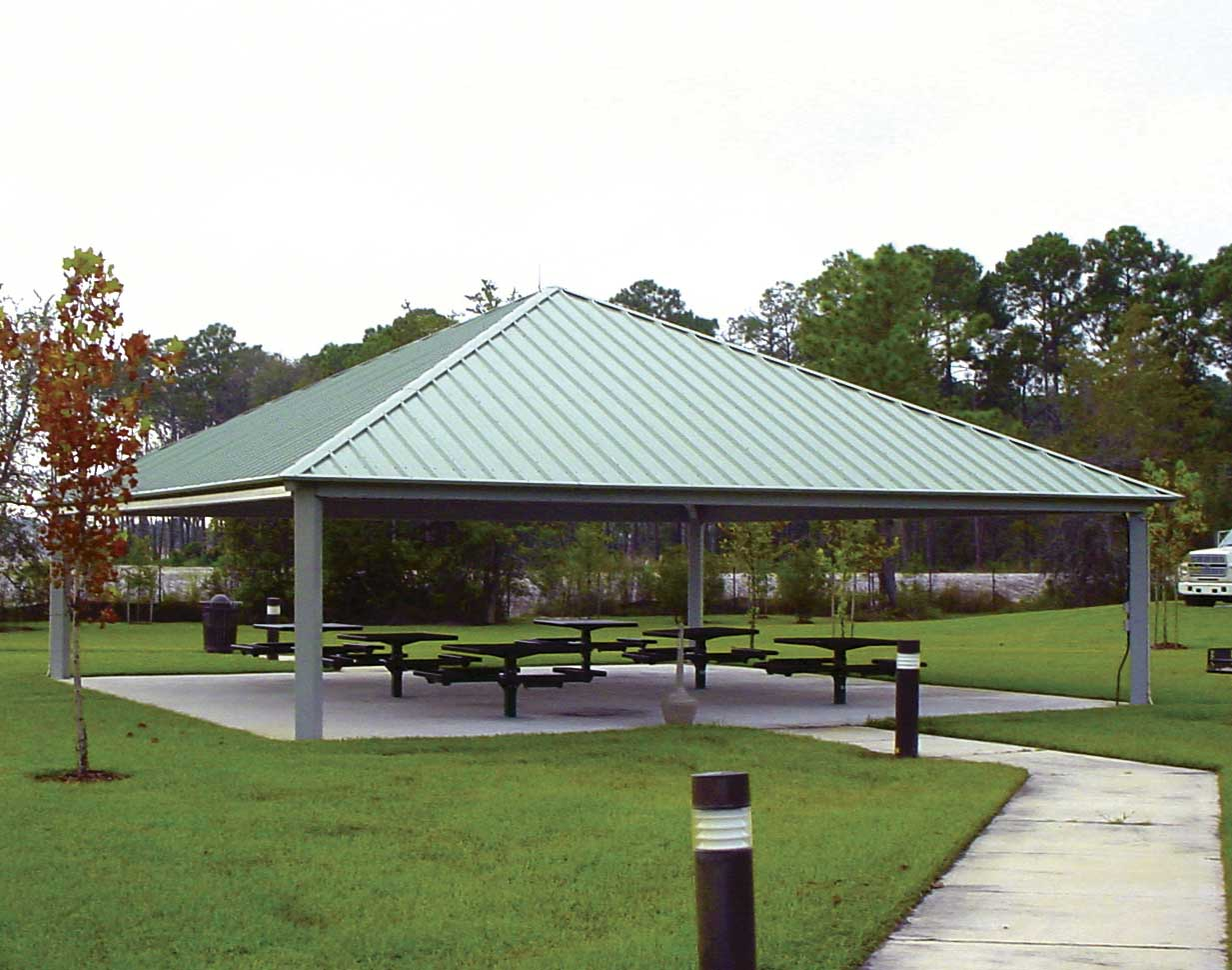 All Steel Single Roof Forestview Square Pavilions