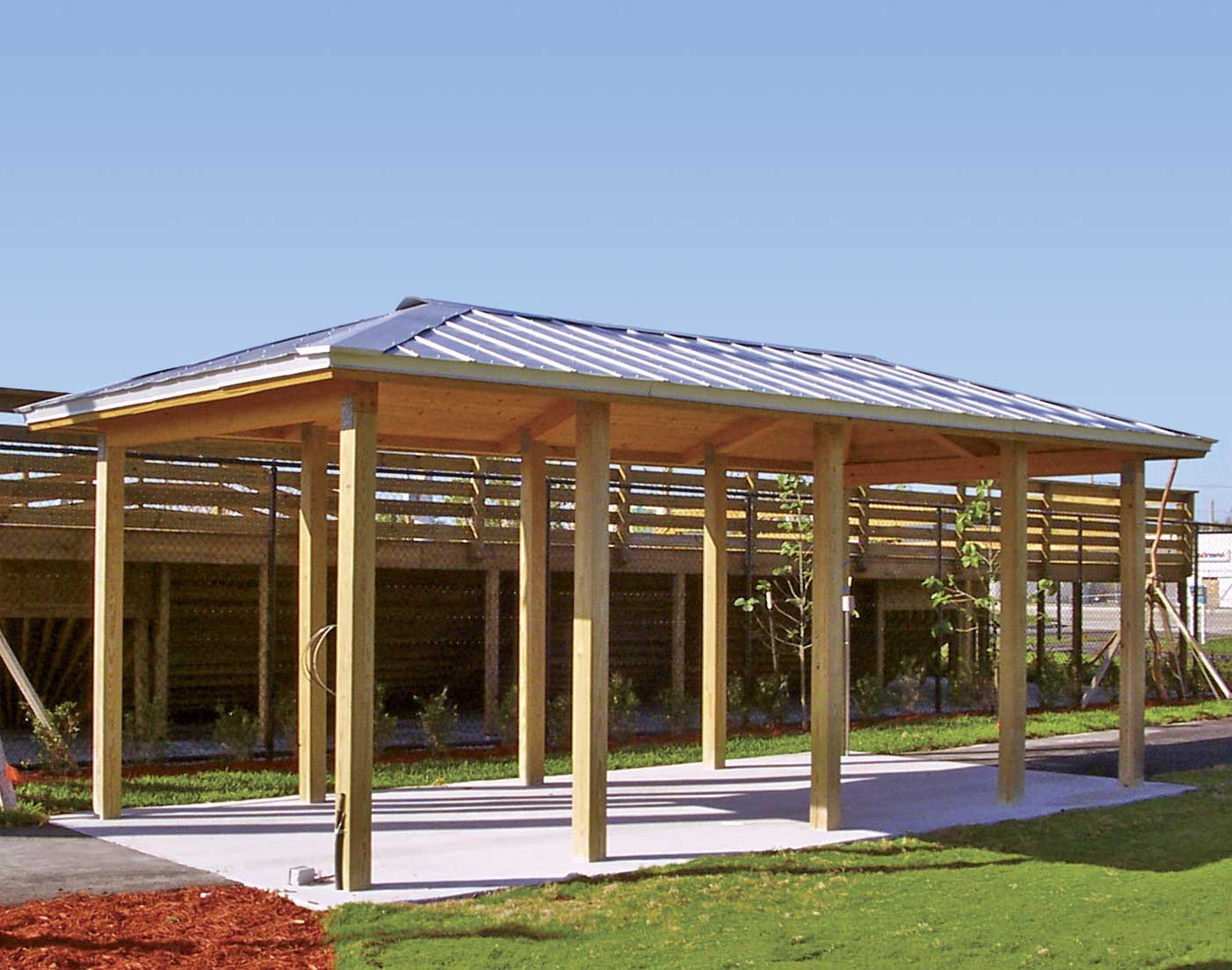 Wood Single Roof Summerset Rectangle Pavilions