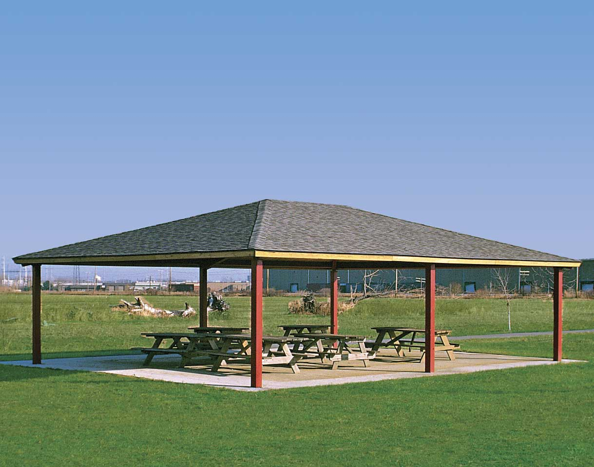 Steel Frame Single Roof Summerset Rectangle Pavilions