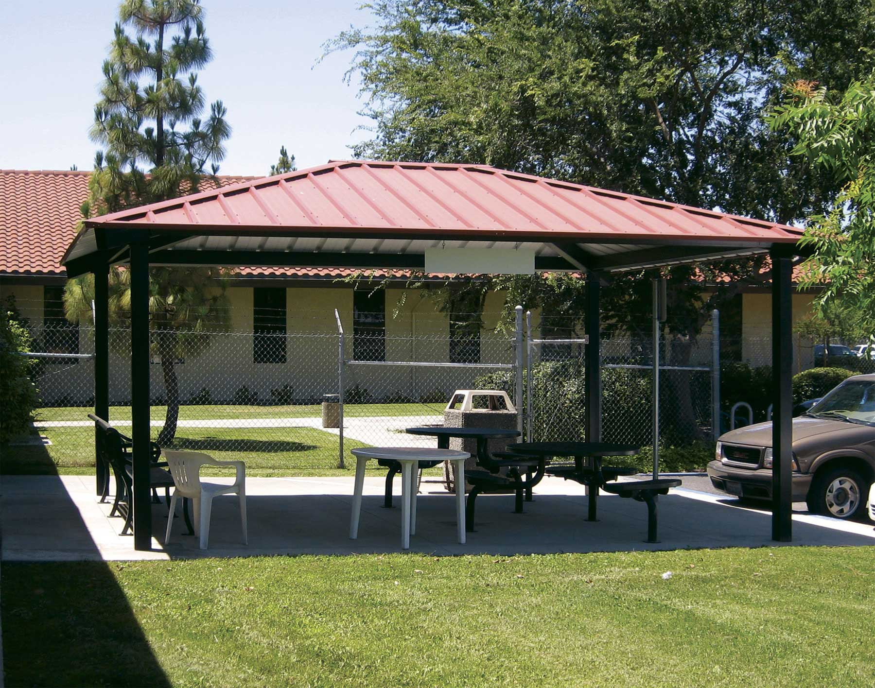All Steel Single Roof Summerset Rectangle Pavilions