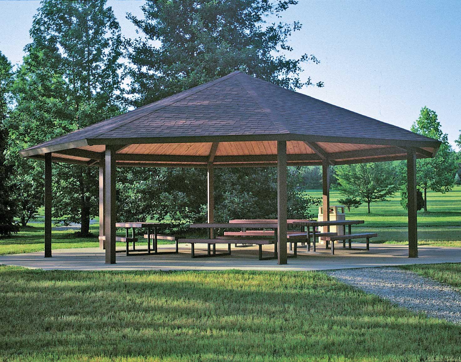 Steel Frame Single Roof Santa Fe Octagon Pavilions