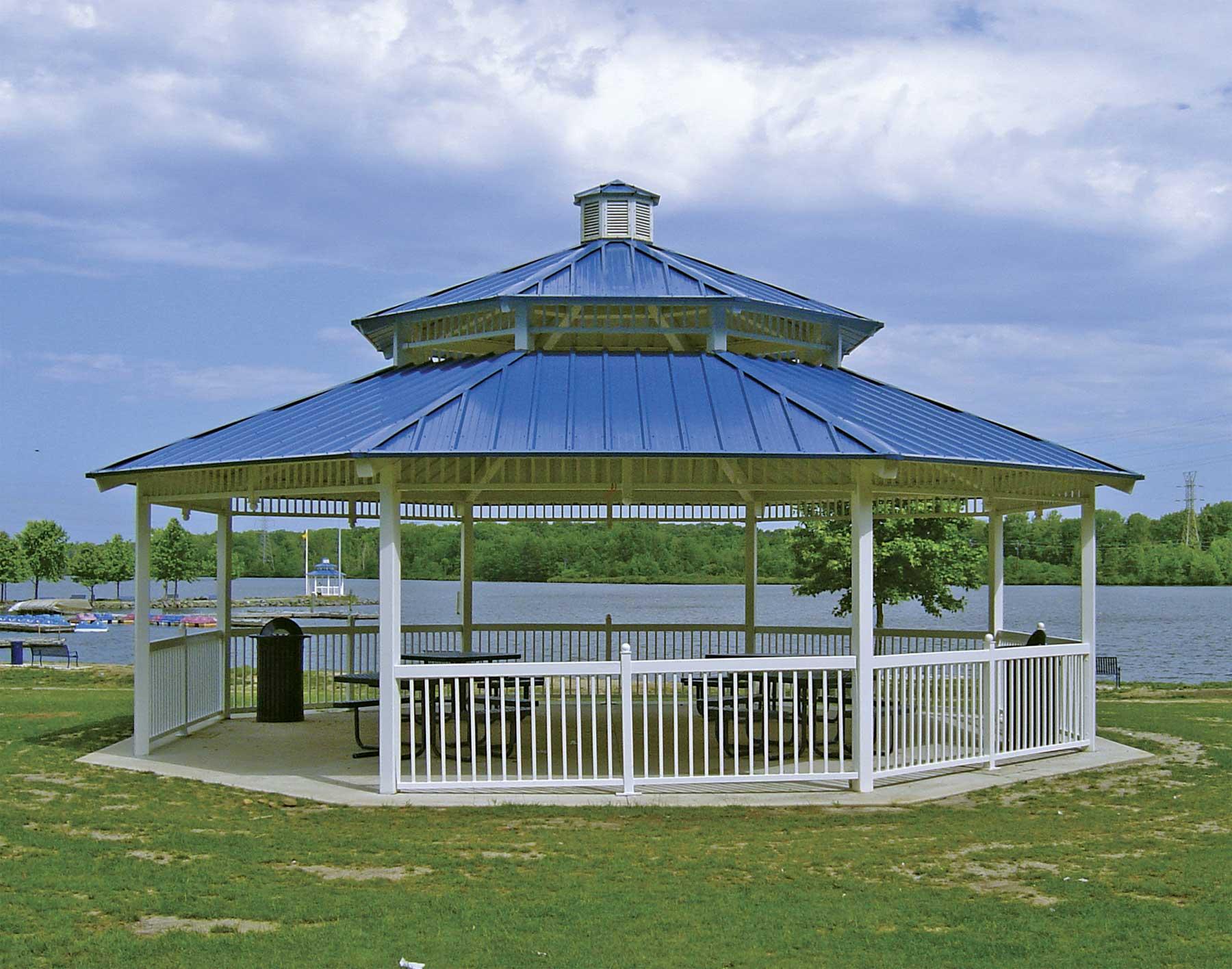 proposed octagonal steel roof