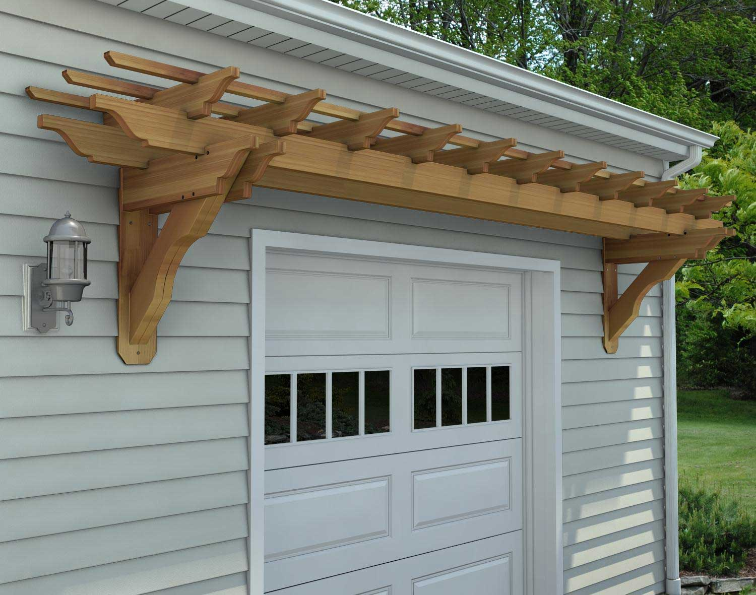red cedar eyebrow breeze wall mount pergolas pergolas by material. Black Bedroom Furniture Sets. Home Design Ideas