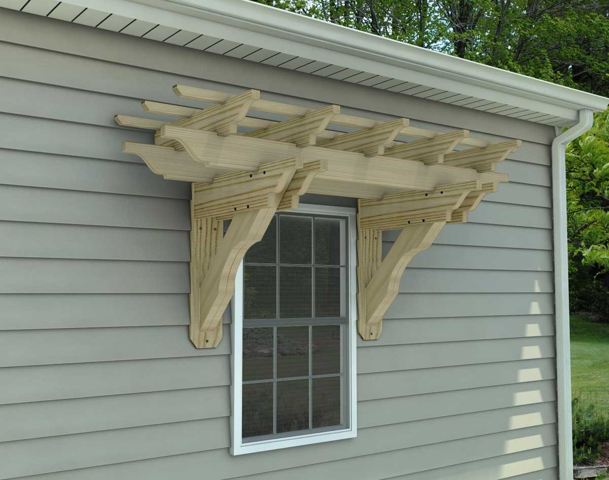 Mounting fan to pergola pictures to pin on pinterest for Eyebrow pergola plans