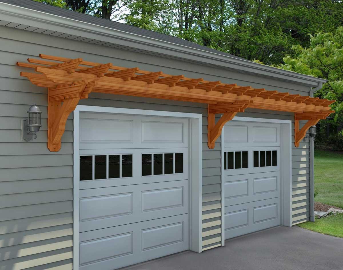 Pictures Of Pergolas Over Garage Doors Designs