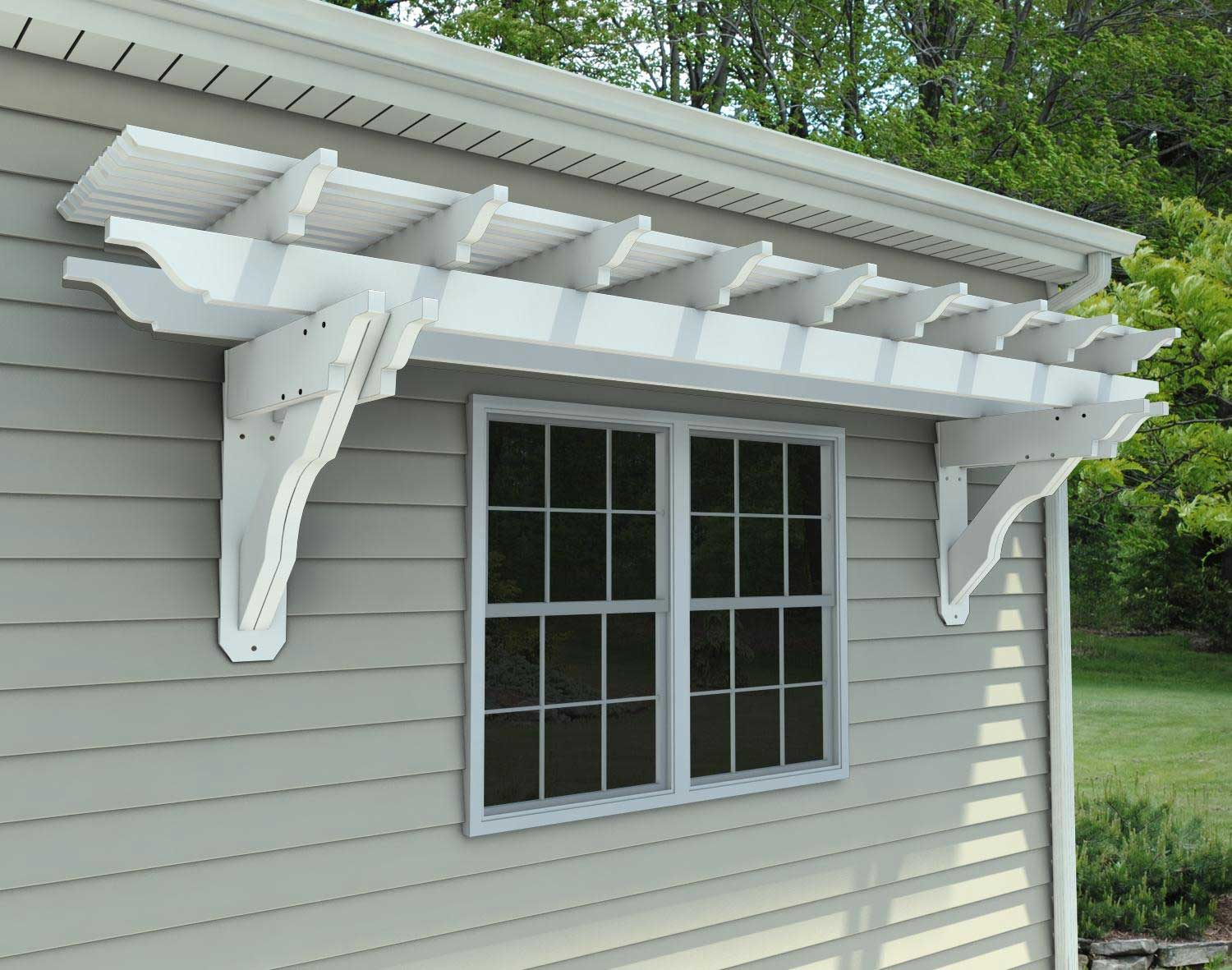 vinyl eyebrow breeze wall mount pergolas pergolas by