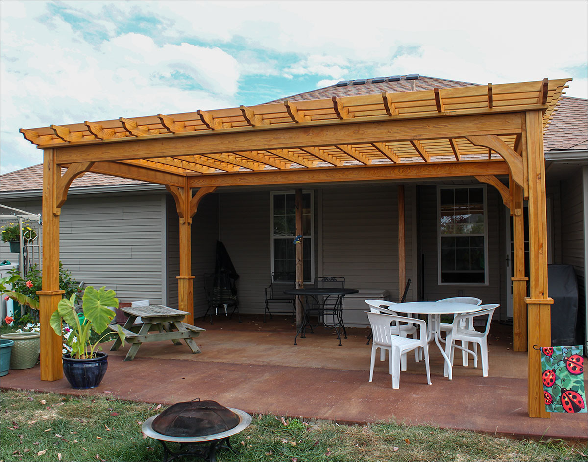 Wood Shop Free Eyebrow Pergola Plans