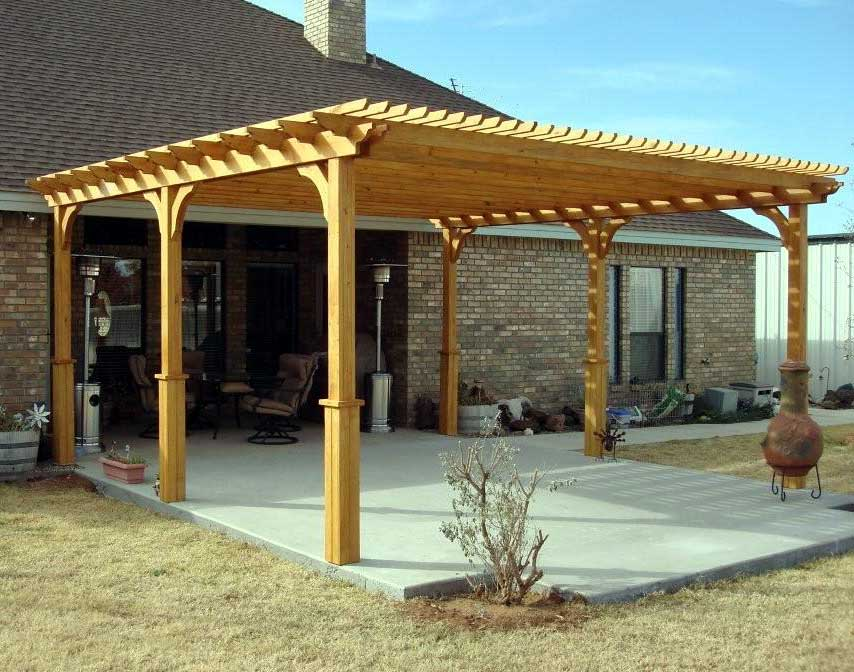 Treated pine vintage classic free standing pergolas for Build a freestanding patio cover