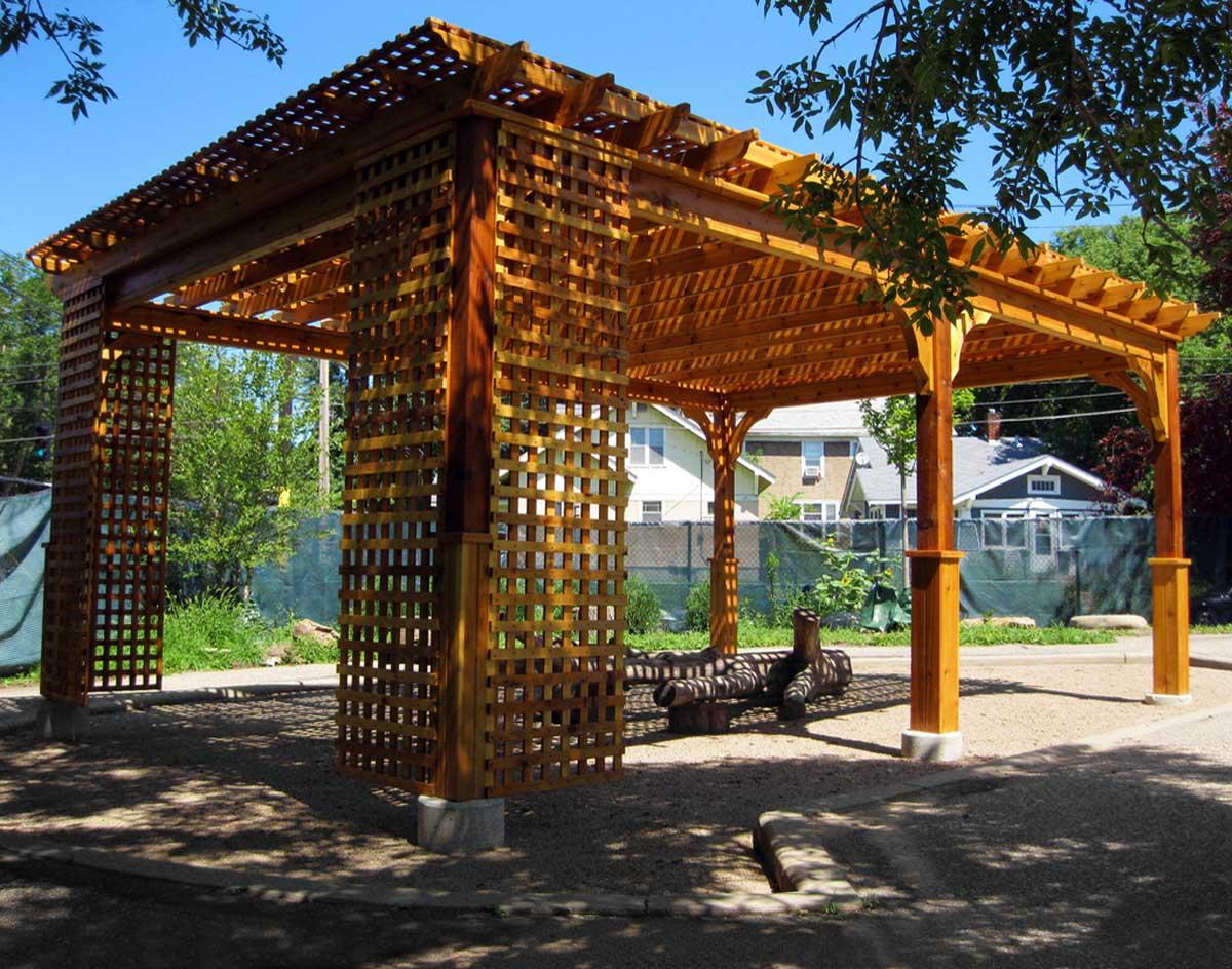Red Cedar Belvedere Free Standing Pergolas Pergolas By
