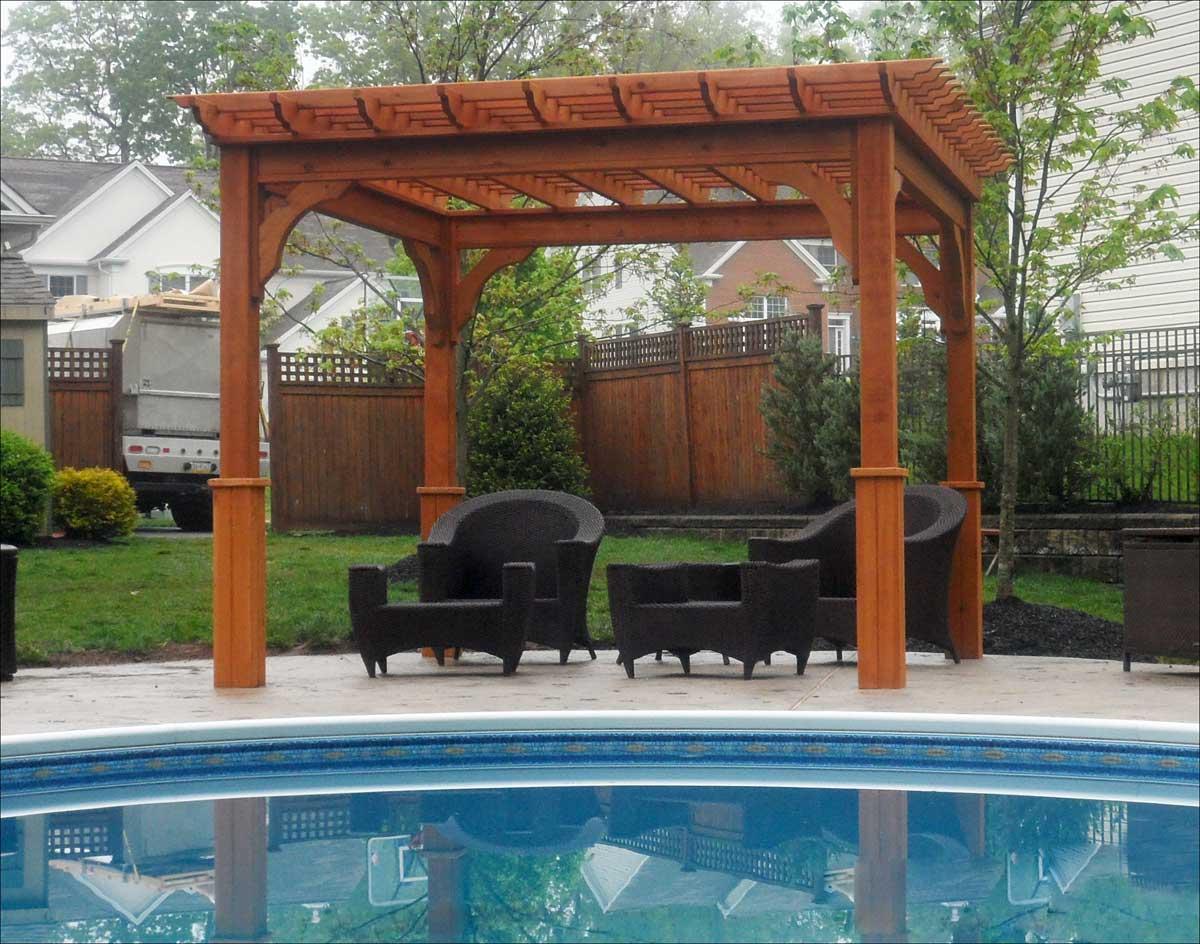 pergola cedar pergolas standing beam belvedere patio stain spacing swing deluxe cedarstore gazebocreations gazebo designs deck pool arbors base backyard