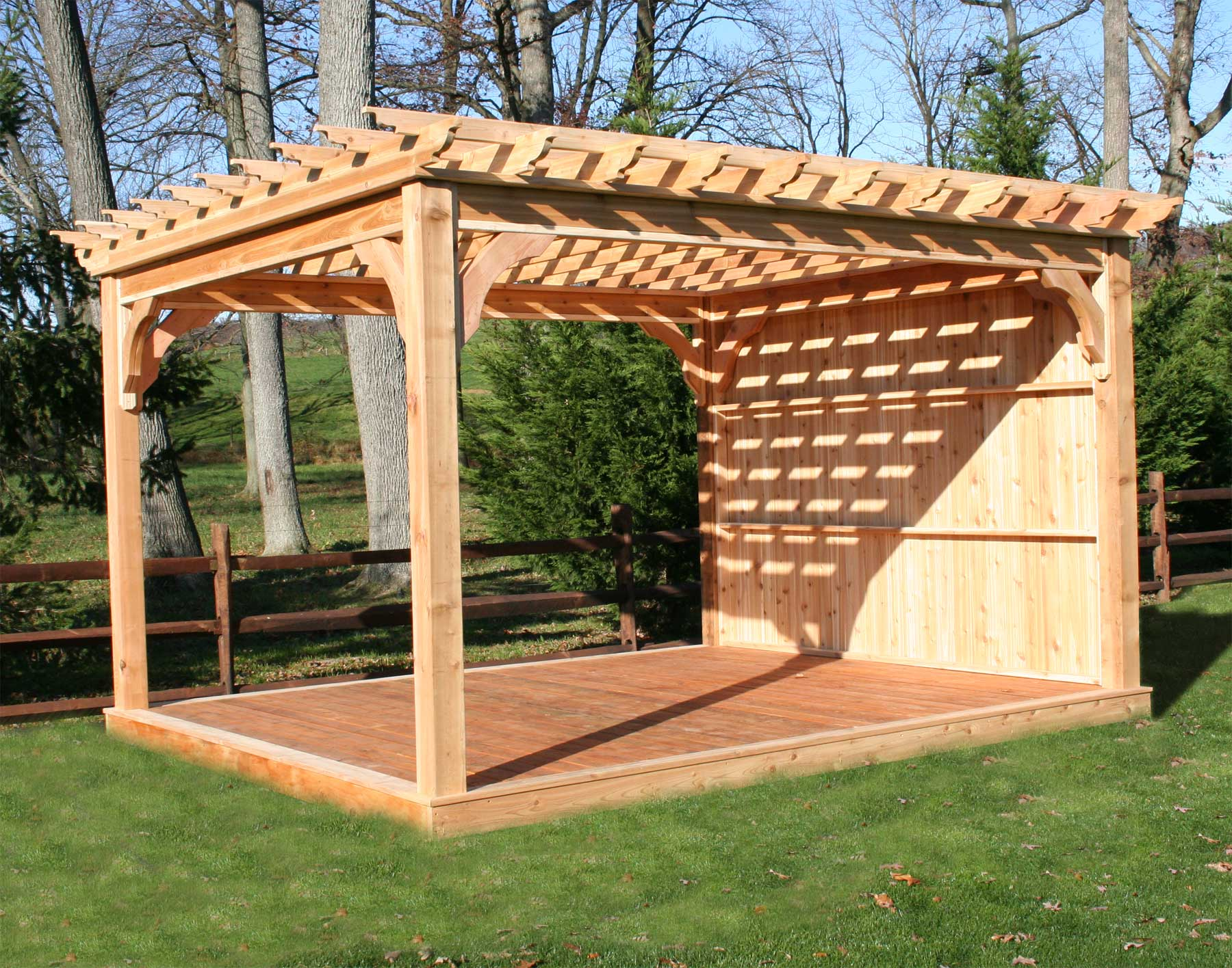red cedar belvedere free standing pergolas pergolas by style. Black Bedroom Furniture Sets. Home Design Ideas