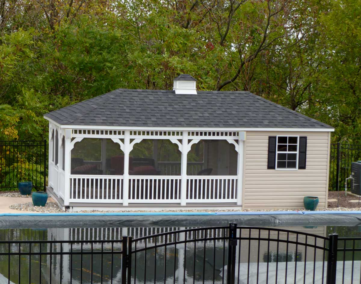 Vinyl Rectangle Pool Houses Pool Houses By Material