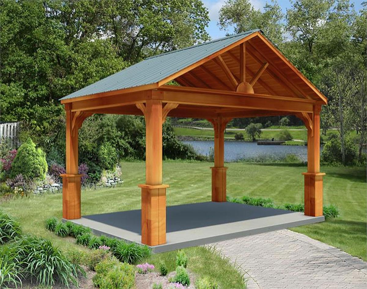 Red Cedar Long Gable Ramadas Ramadas By Roof Type