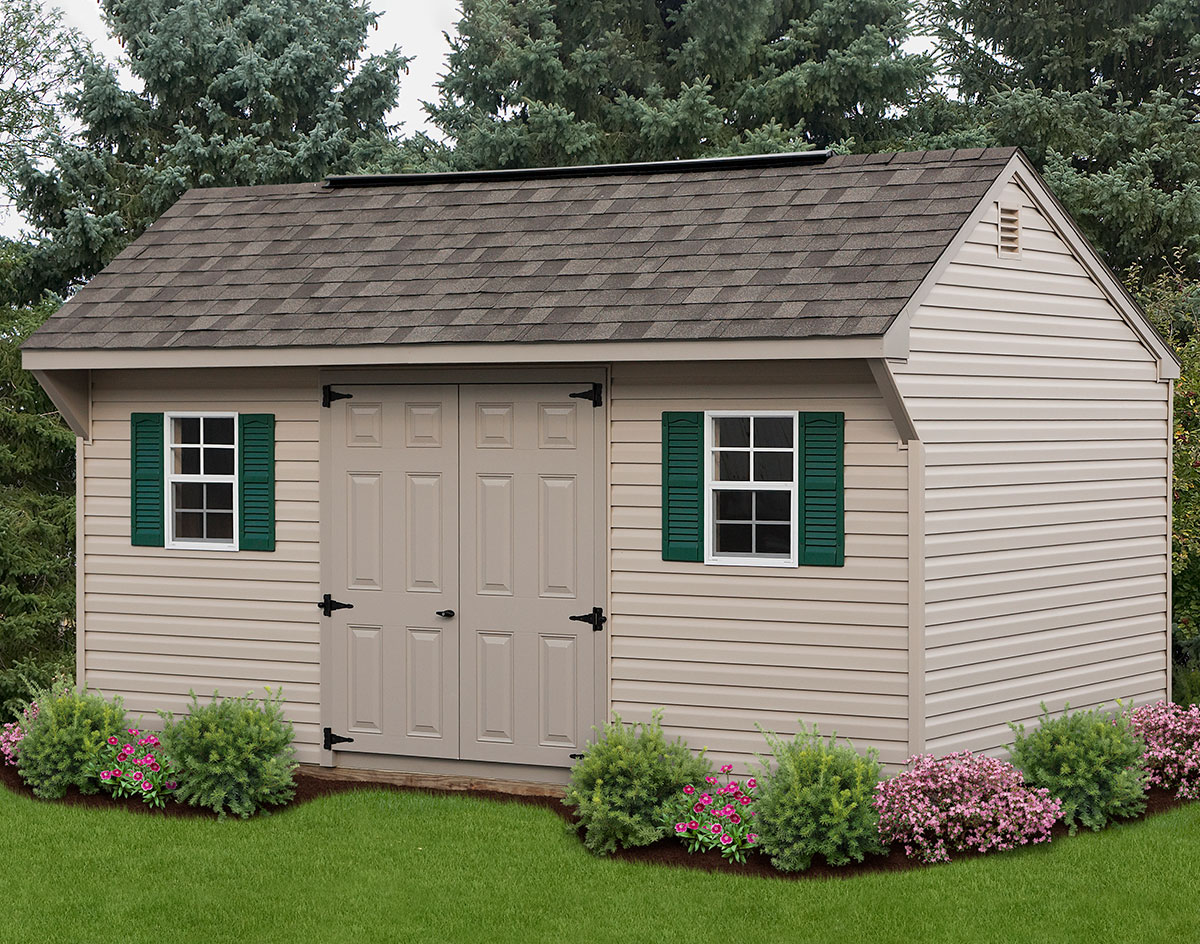 Vinyl Siding Saltbox Sheds Sheds By Siding