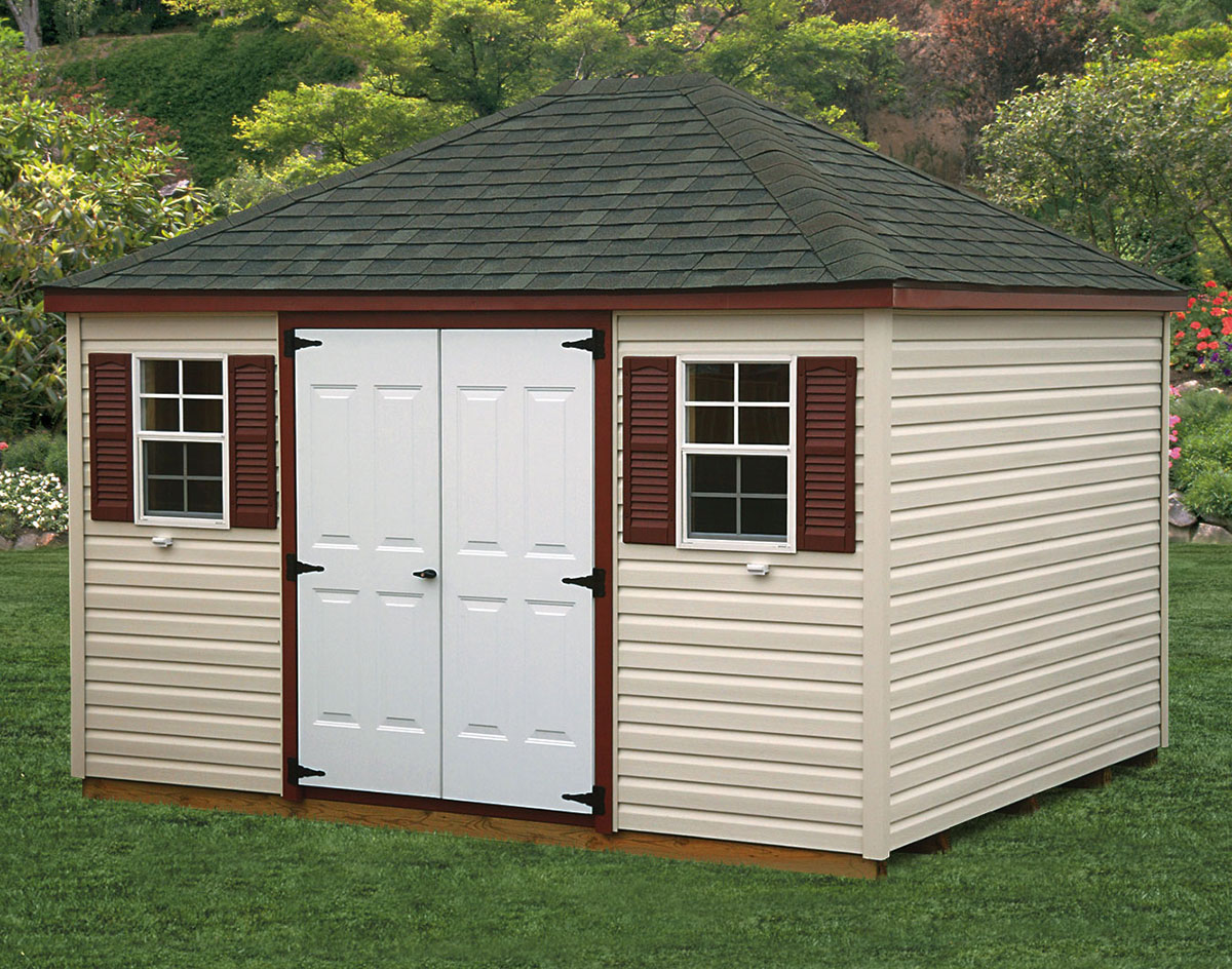 Vinyl Siding Hip Roof Style Sheds Sheds By Siding