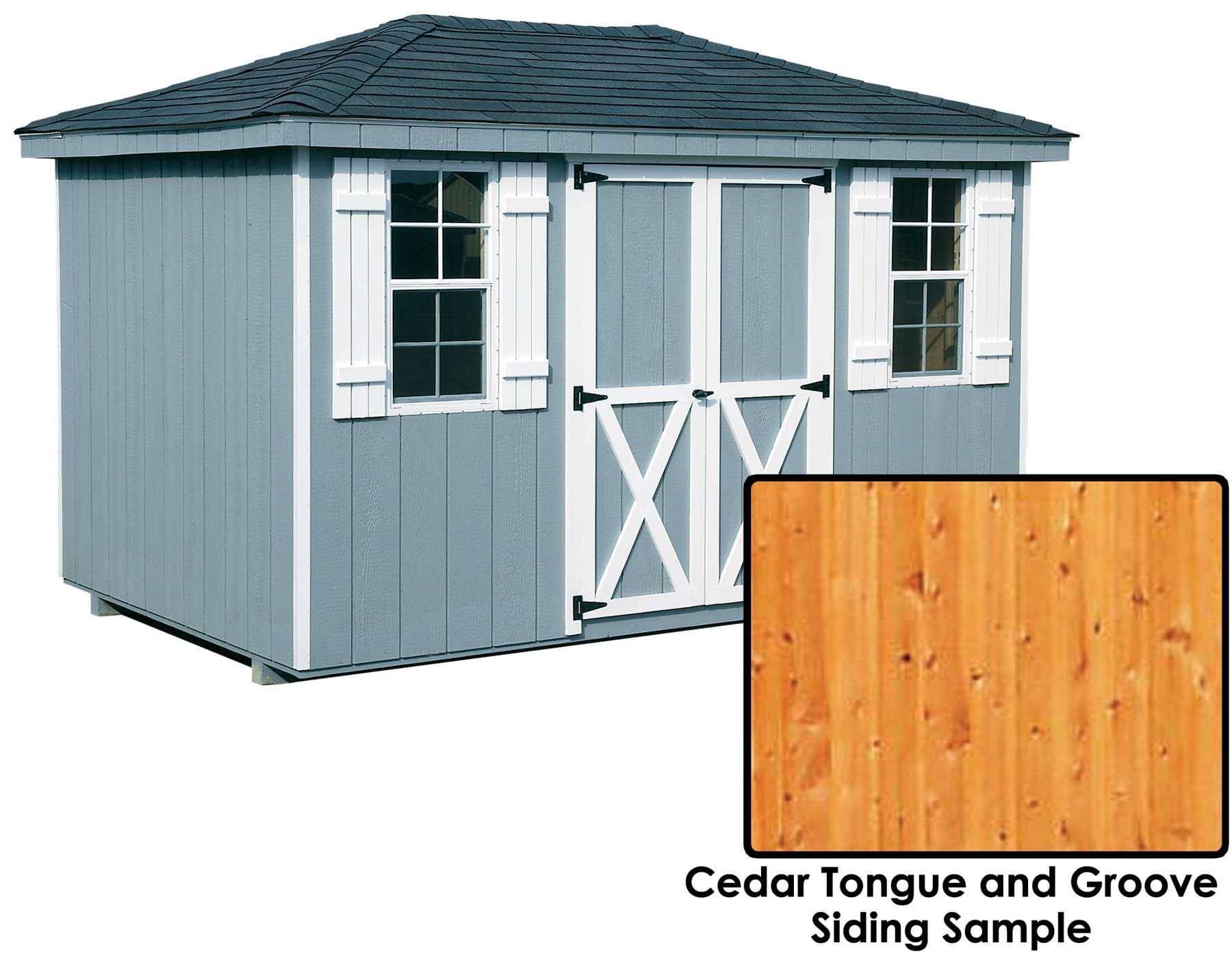 Cedar Tongue Amp Groove Hip Roof Style Sheds Sheds By